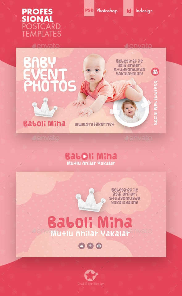 Baby Photo Business Card Templates - Corporate Business Cards