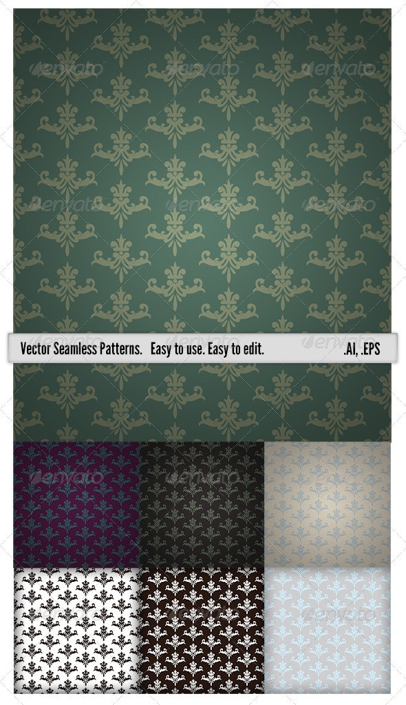 Floral Vector Seamless Pattern - Patterns Decorative