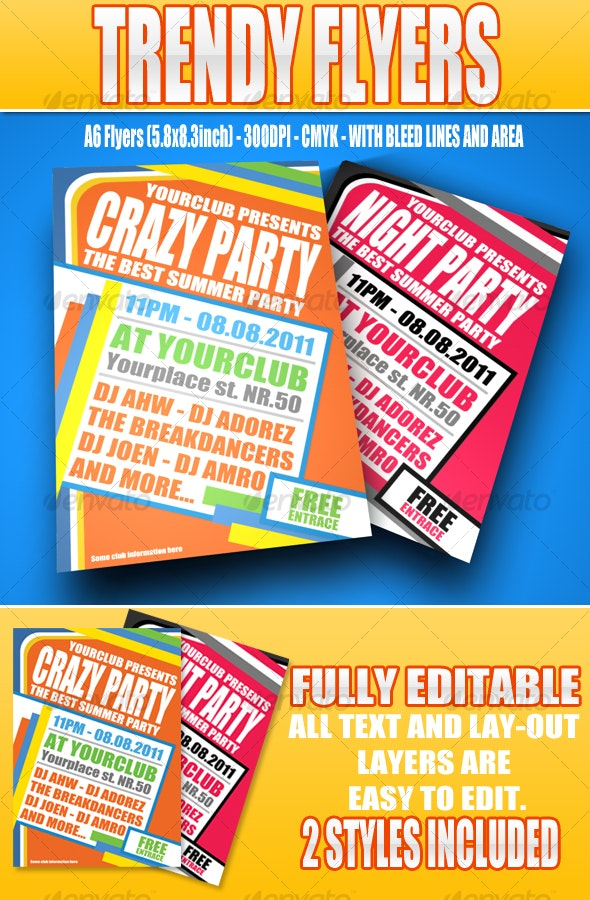 Trendy Flyers - Clubs & Parties Events