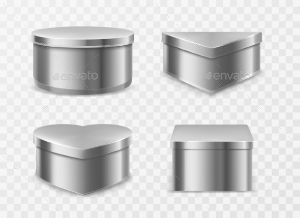 Metal Tin Boxes for Coffee, Tea or Candies - Food Objects