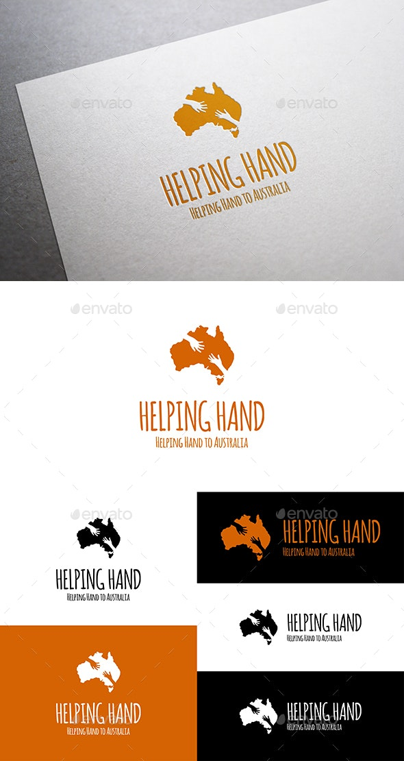 Helping Hand to Australia - Vector Abstract