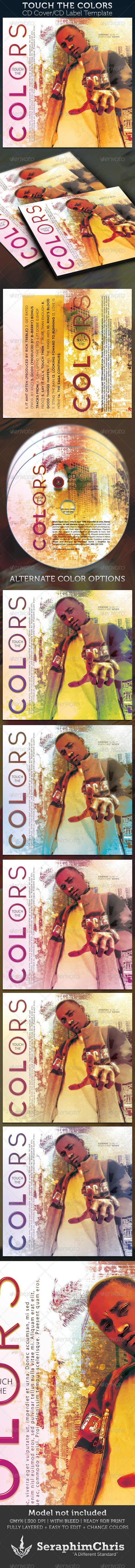 Touch The Colors CD Cover Artwork and Label