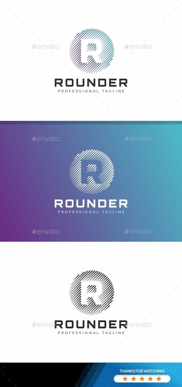 Rounder R Letter Logo - Letters Logo Templates