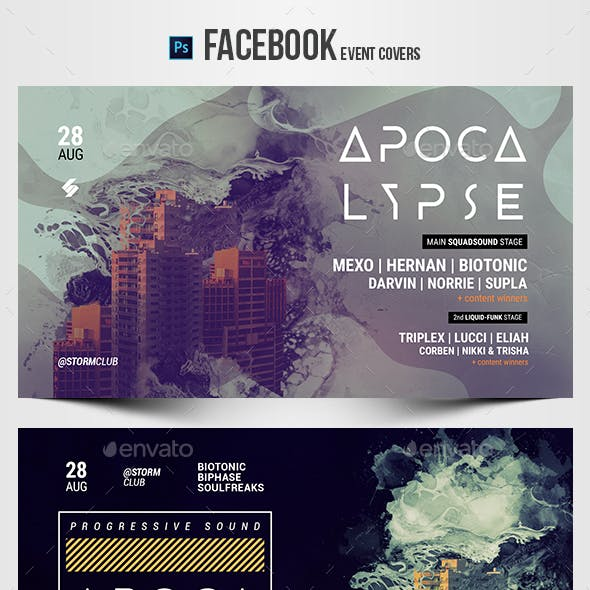 Electronic Music Party 23 - Facebook Event Cover Templates