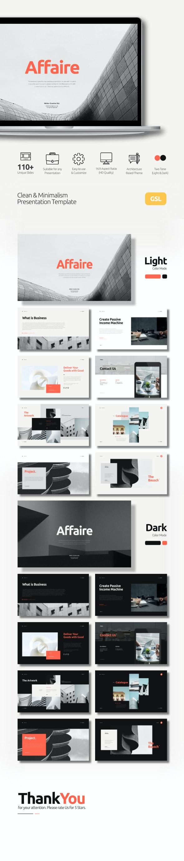 Affaire Creative Corporate Business Google Slides Template - Google Slides Presentation Templates