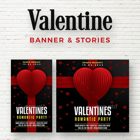 Valentine Social Media - Social Media Web Elements