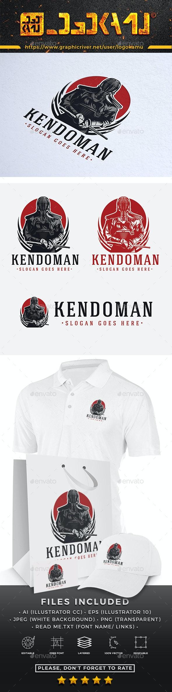 Kendo Knight Logo - Humans Logo Templates