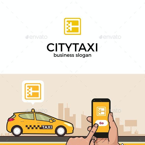 City Taxi App Icon Logo