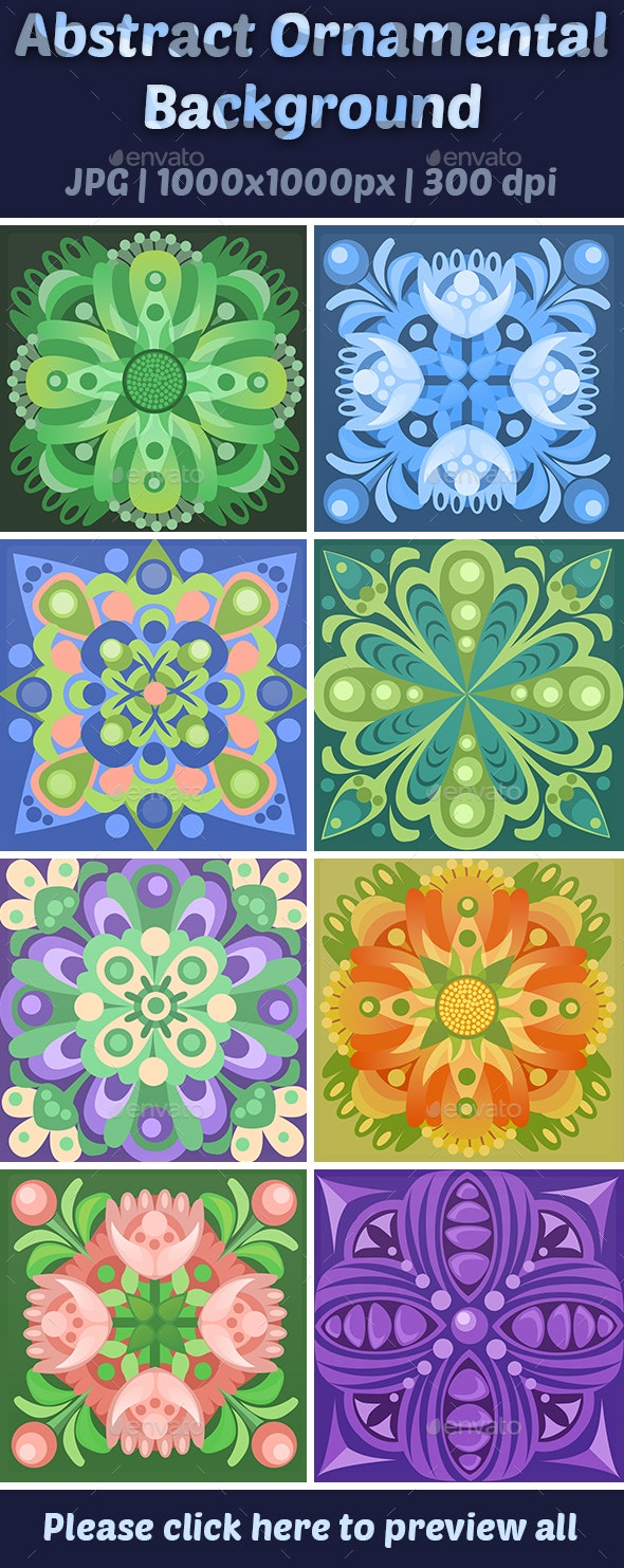 Abstract Ornamental Background - Backgrounds Graphics