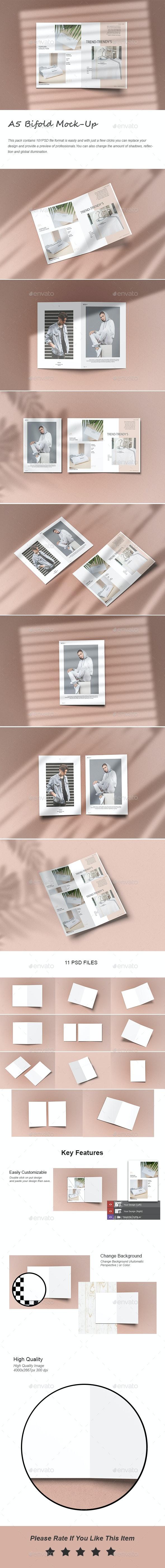 A5 Bifold Brochure Mock-Up - Brochures Print