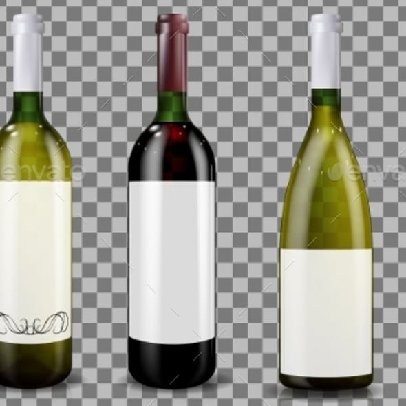 Red and White Wine Bottles Caps or Sleeves
