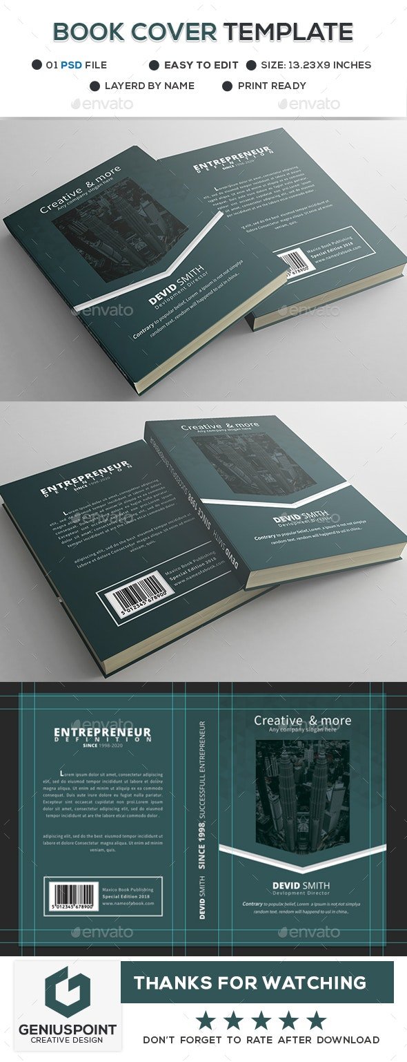Book Cover Template - Miscellaneous Print Templates