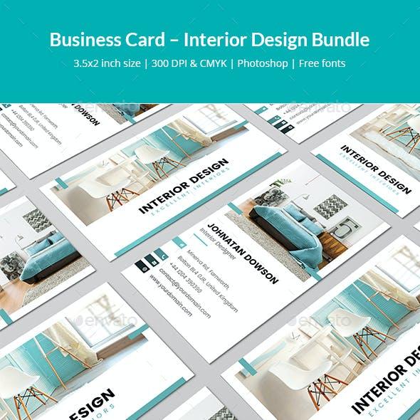 Business Card – Interior Design Bundle Print Templates 2 in 1
