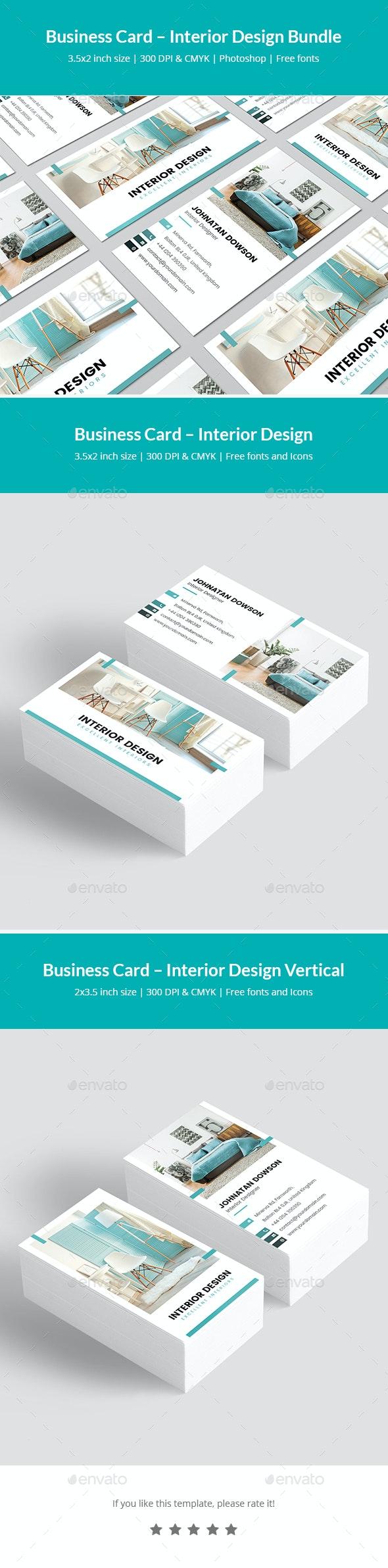 Business Card – Interior Design Bundle Print Templates 2 in 1 - Corporate Business Cards
