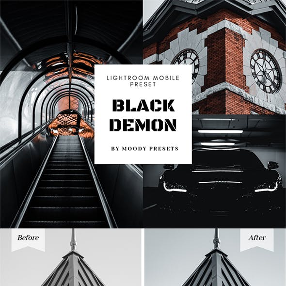 Black Demon Preset - Moody Presets for Lightroom Mobile
