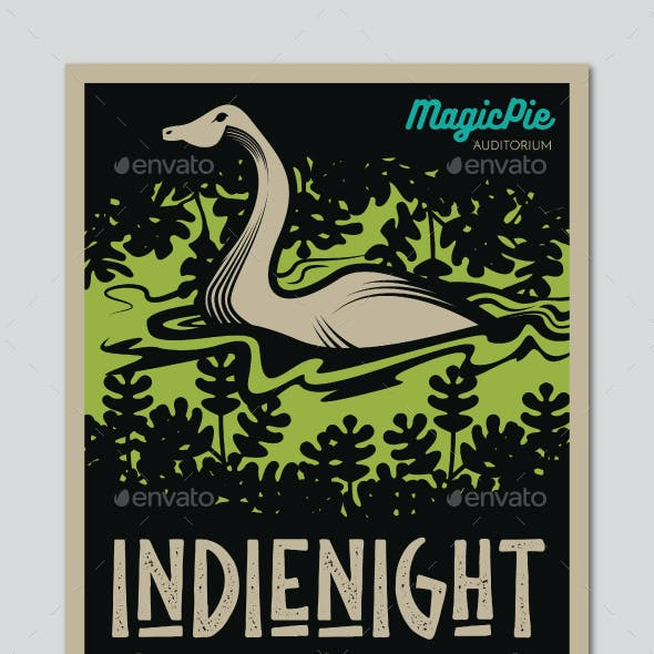 Lake Monster Indie Gig Flyer