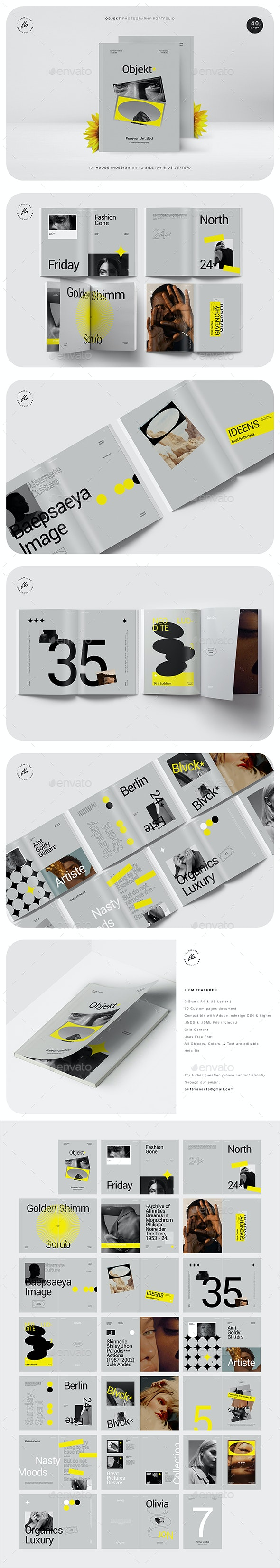 Objekt Photography Portfolio - Magazines Print Templates