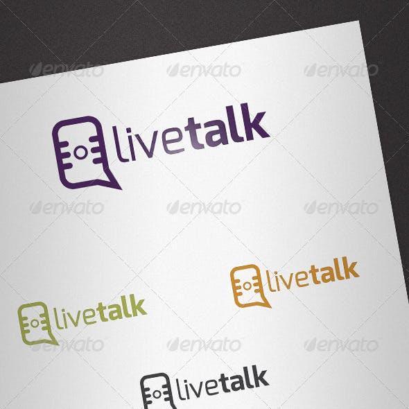 Live Talk Logo Template