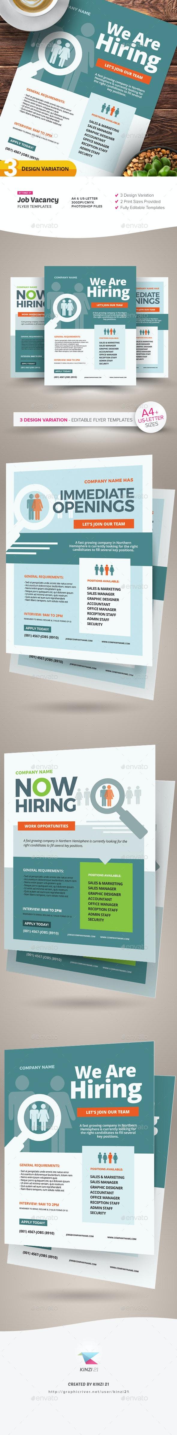Job Vacancy Flyer Templates - Corporate Flyers
