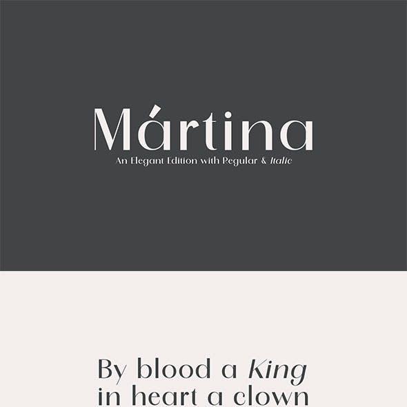 Martina    Sans Serif Font
