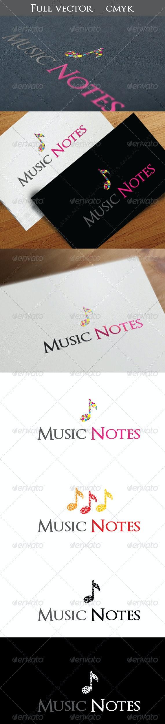 Music Notes - Symbols Logo Templates