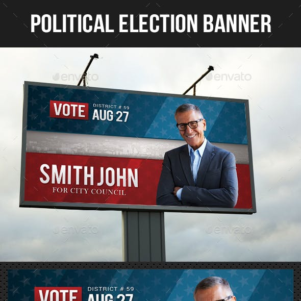 Political Election Outdoor Banner V2
