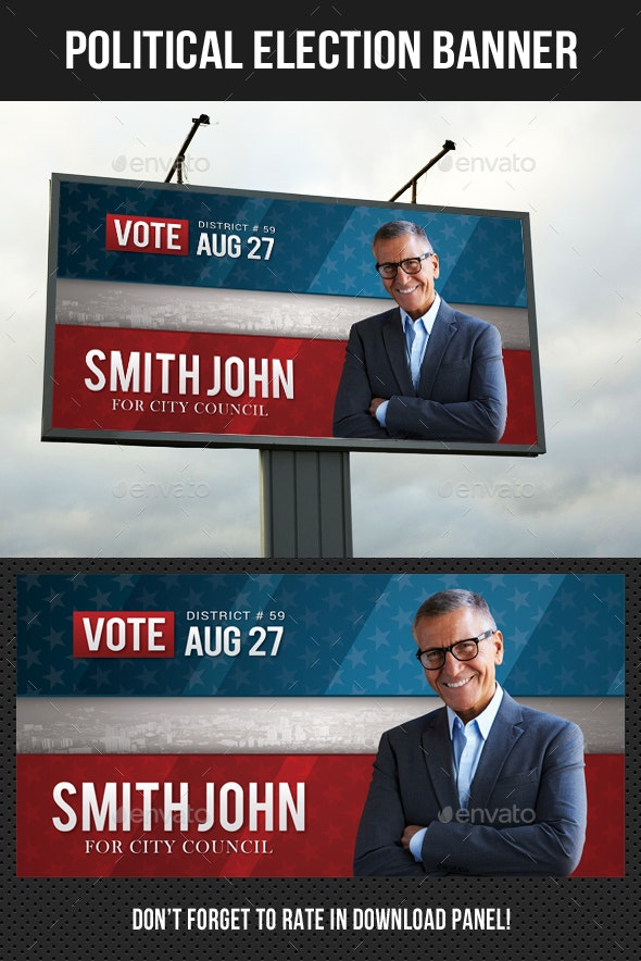 Political Election Outdoor Banner V2 - Signage Print Templates