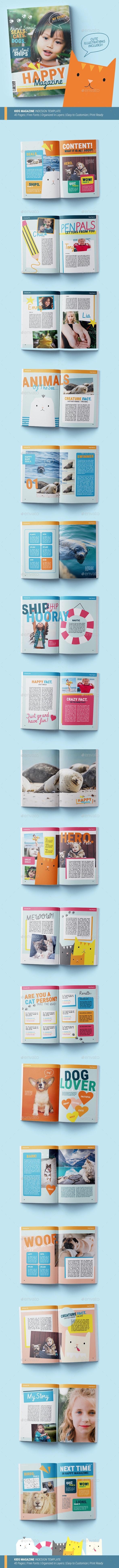 Kids Magazine Template | Happy - Magazines Print Templates