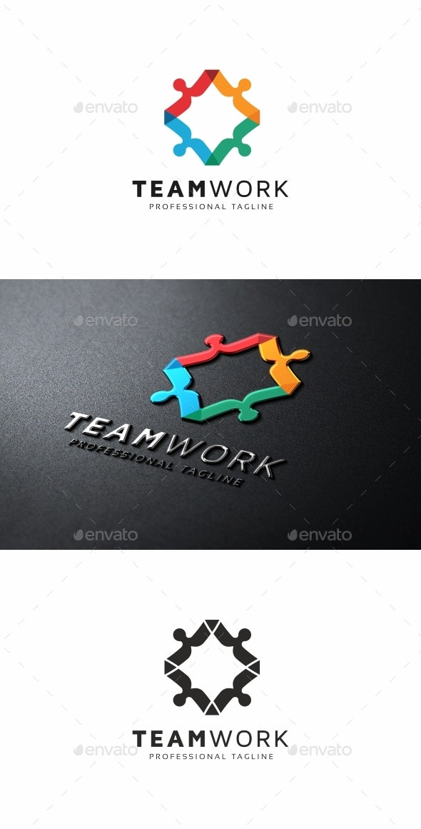 Team Work Logo - Humans Logo Templates