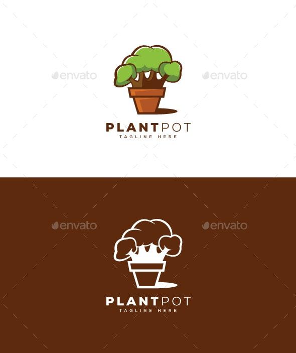 Plant Pot Logo - Nature Logo Templates