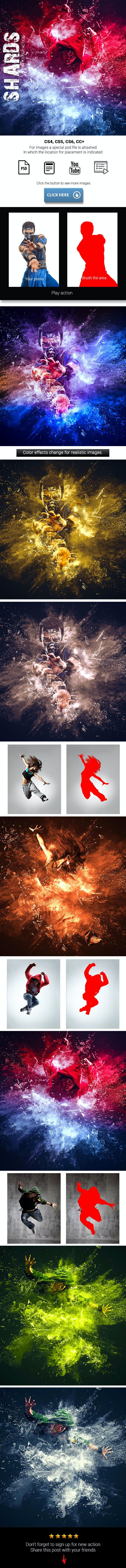 Shards Photoshop Action - Photo Effects Actions