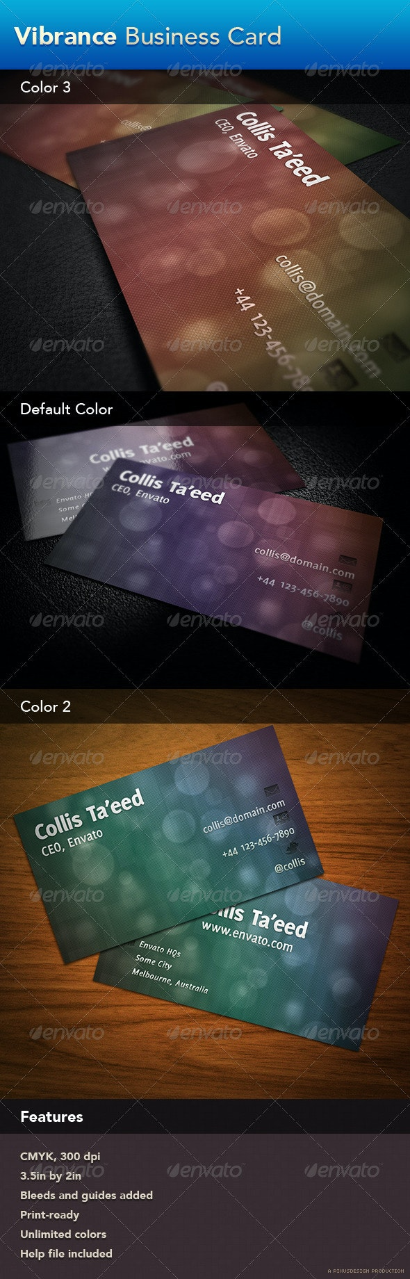 Vibrance Business Card - Corporate Business Cards