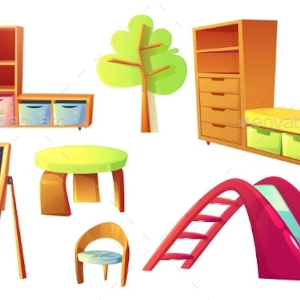 Kindergarten Furniture for Childrens Class Room