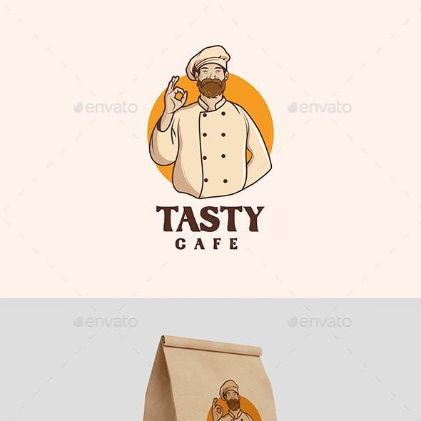 Vintage Chef Mascot Logo