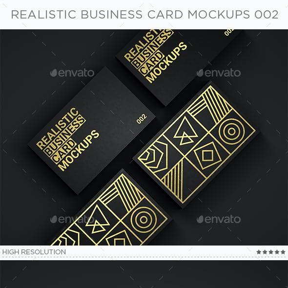 Realistic Business Card Mockups v2