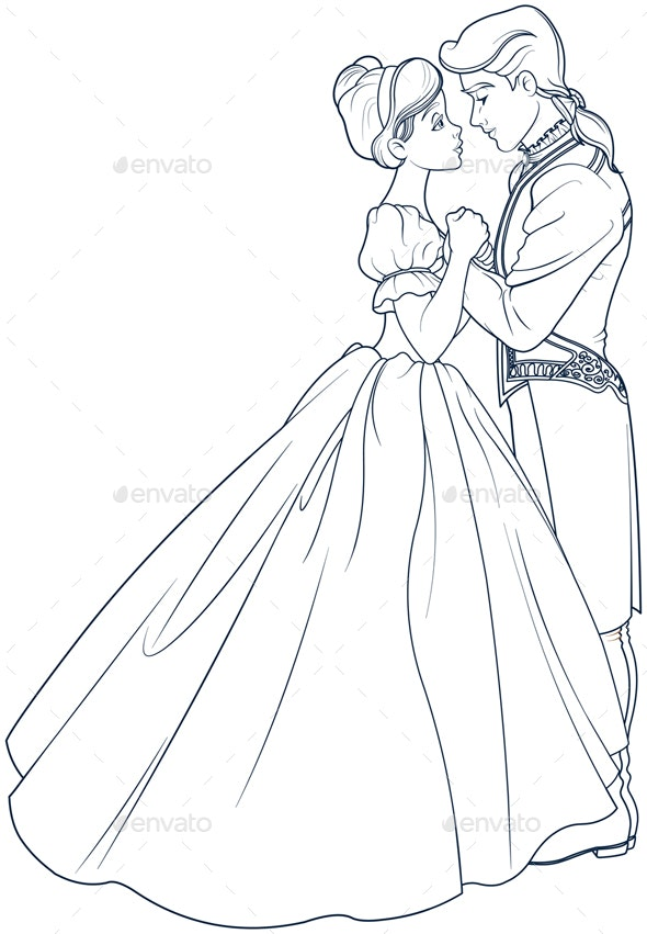 The Ball Dance of Cinderella and Prince - People Characters