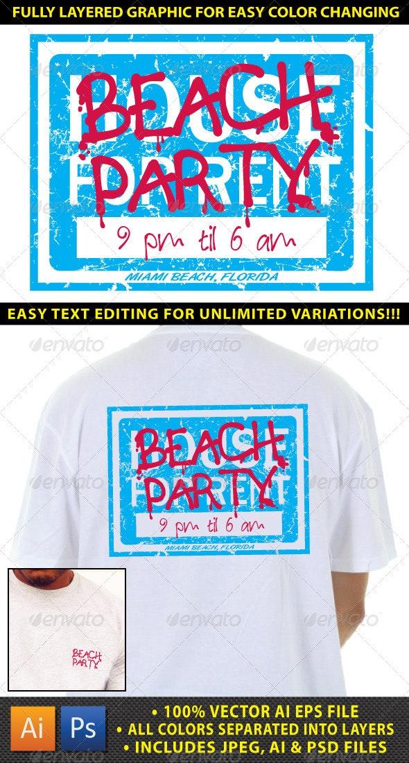 Beach Party Themed Island Resort T-shirt Design - Events T-Shirts