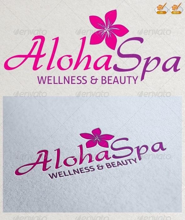 Aloha Spa Logo Template - Nature Logo Templates