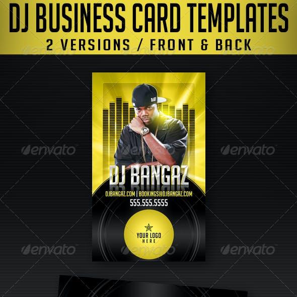 DJ Business Card Templates