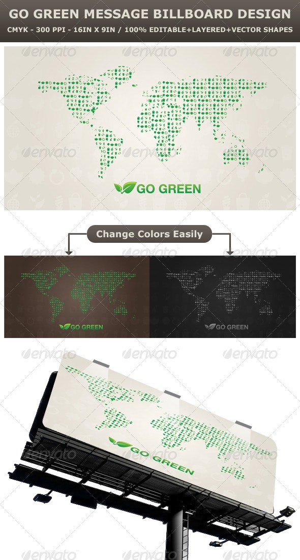 Go Green - Signage Print Templates