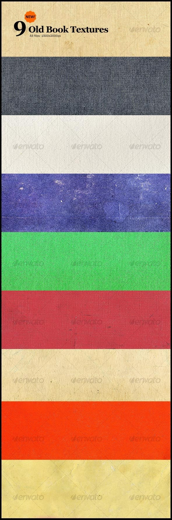 9 New Old Book Textures - Paper Textures