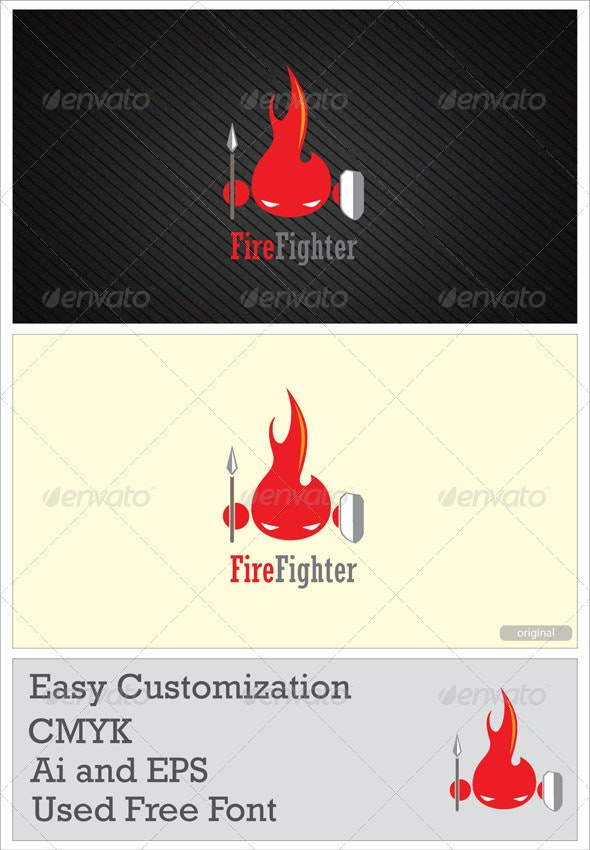 Fire Cartoon - Abstract Logo Templates