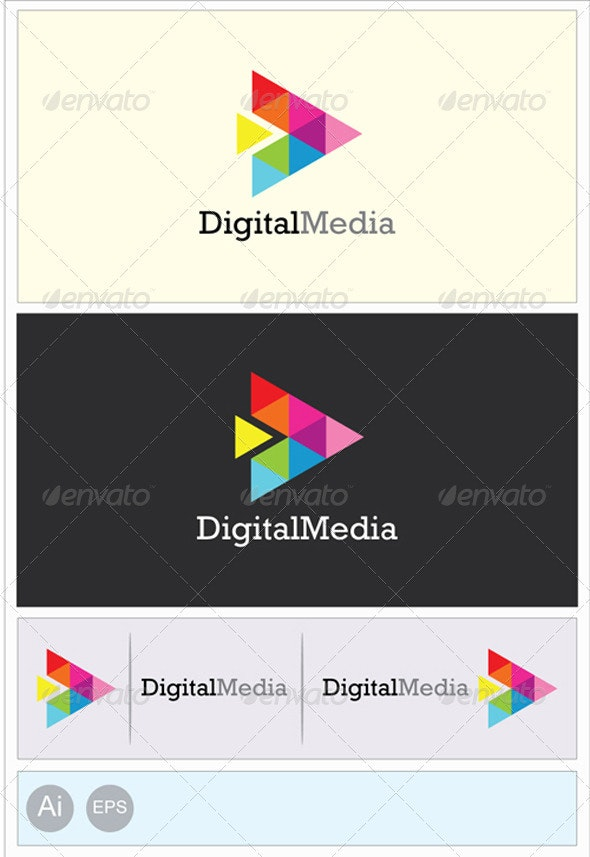 Digital Business Logo - Abstract Logo Templates