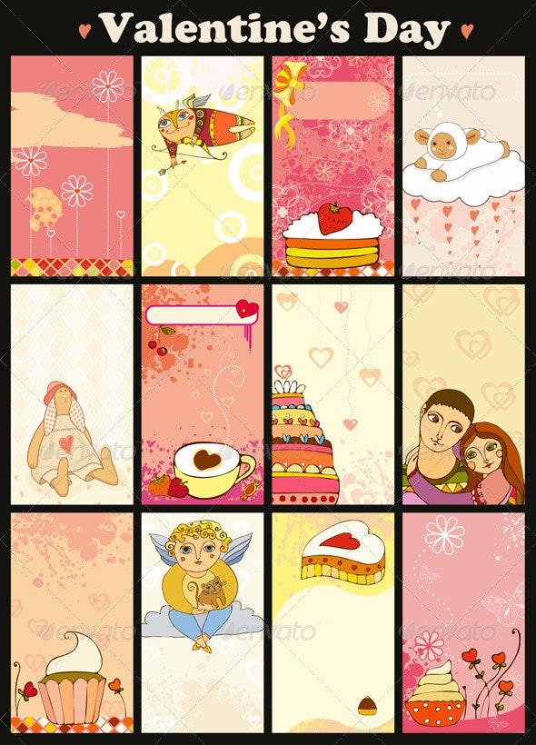 Love Card Vertical Set - Valentines Seasons/Holidays