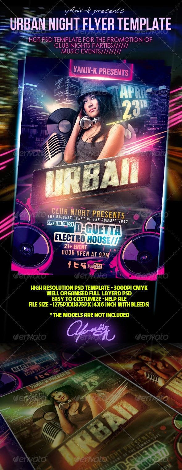 Urban Night Flyer Template - Clubs & Parties Events