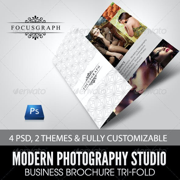 Modern Photography Studio Tri-Fold Brochure