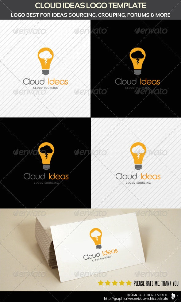 Cloud Ideas Logo Template - Abstract Logo Templates