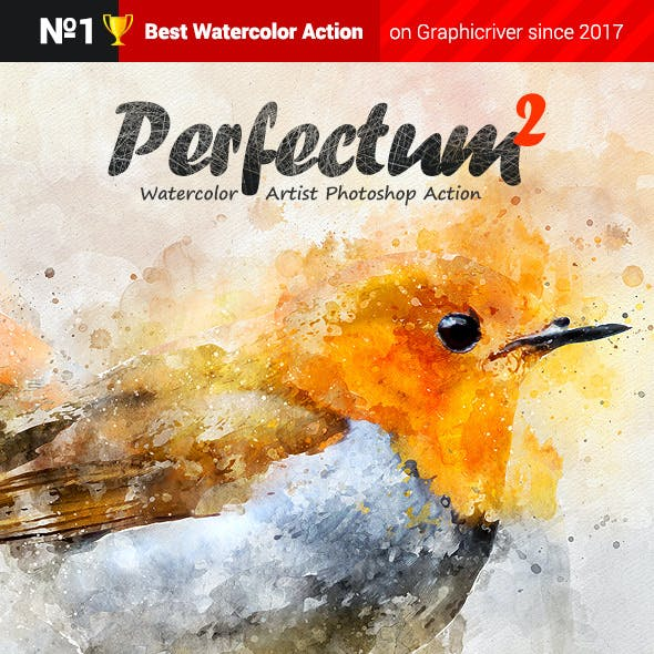 Watercolor Artist - Perfectum 2 - Photoshop Action