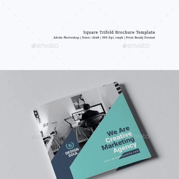 Square Trifold Brochure Template