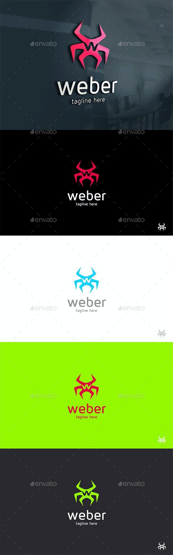 Spider Web Logo - Animals Logo Templates
